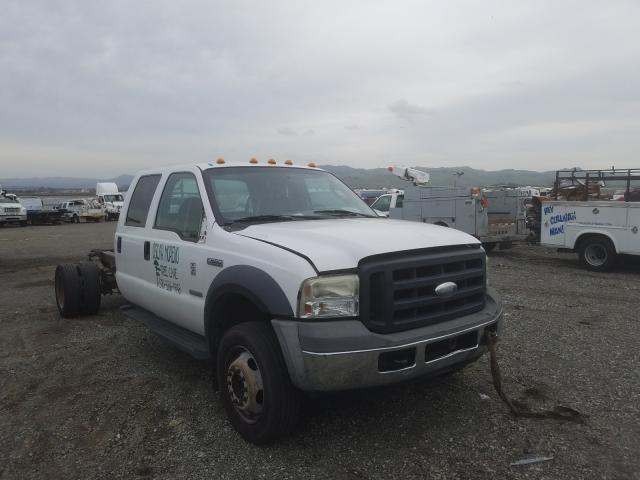 Salvage cars for sale from Copart Vallejo, CA: 2006 Ford F550 Super