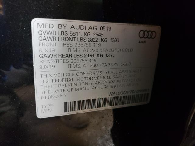 2013 AUDI Q5 PREMIUM WA1DGAFP7DA099661