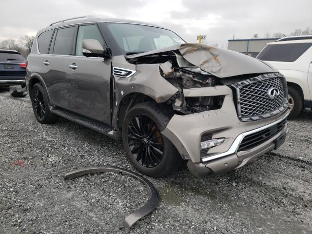 Salvage cars for sale from Copart Spartanburg, SC: 2019 Infiniti QX80 Luxe