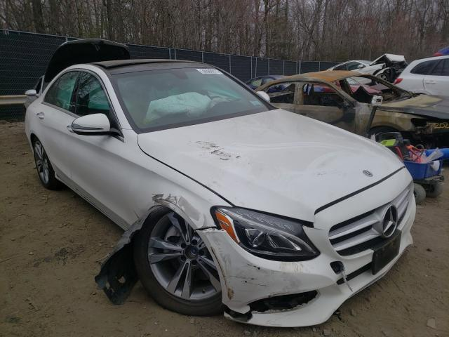 Salvage cars for sale from Copart Waldorf, MD: 2018 Mercedes-Benz C 300 4matic