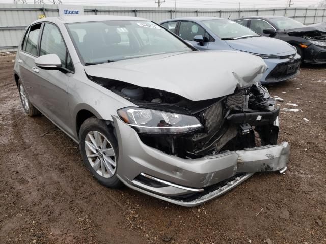 Salvage cars for sale from Copart Elgin, IL: 2019 Volkswagen Golf S