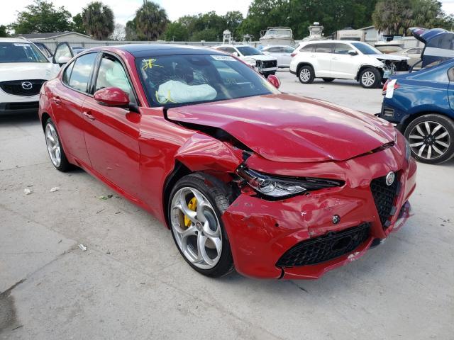 Alfa Romeo salvage cars for sale: 2021 Alfa Romeo Giulia TI