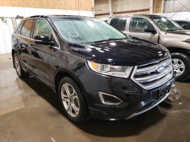 Salvage cars for sale from Copart Anchorage, AK: 2017 Ford Edge Titanium