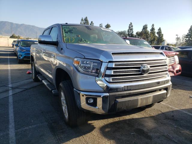 Salvage cars for sale from Copart Rancho Cucamonga, CA: 2018 Toyota Tundra CRE
