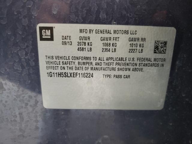 2014 CHEVROLET MALIBU LTZ 1G11H5SLXEF116224