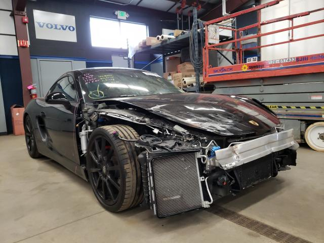 Salvage cars for sale from Copart East Granby, CT: 2015 Porsche Cayman S