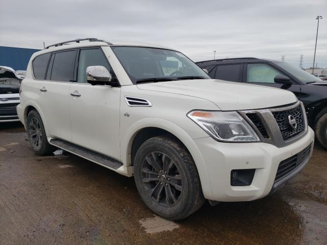 Salvage cars for sale from Copart Woodhaven, MI: 2019 Nissan Armada PLA