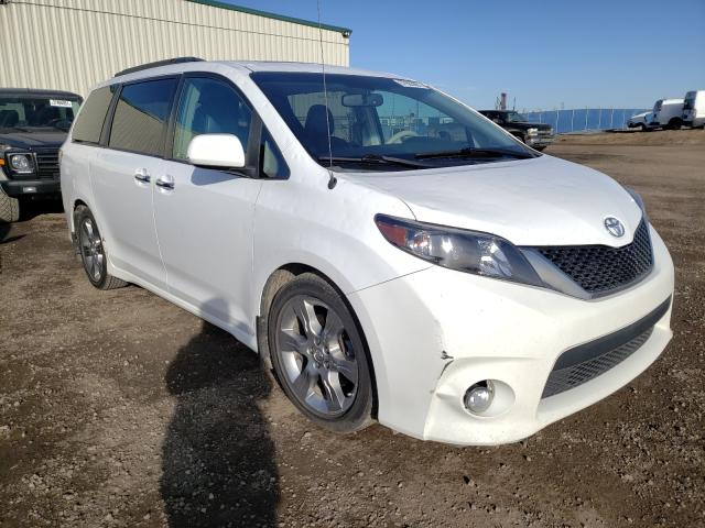 Salvage cars for sale from Copart Rocky View County, AB: 2013 Toyota Sienna Sport