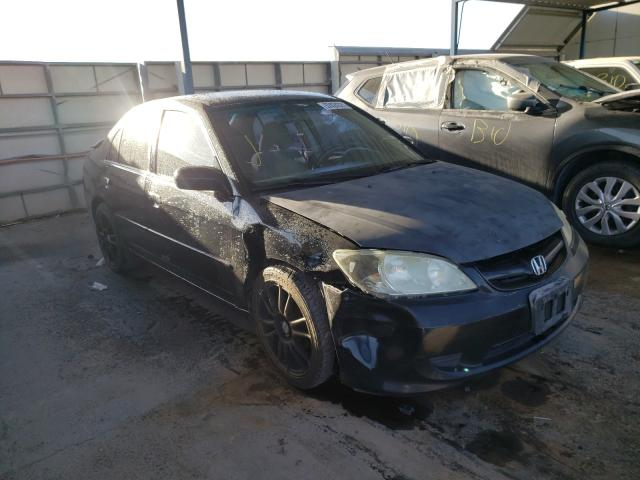 Salvage cars for sale from Copart Anthony, TX: 2004 Honda Civic LX