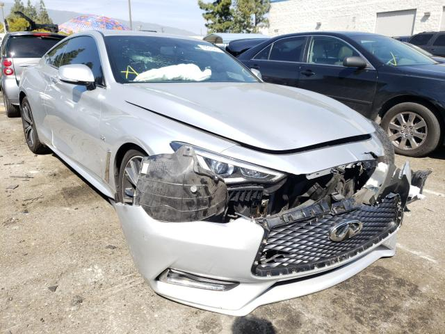 Salvage cars for sale from Copart Rancho Cucamonga, CA: 2017 Infiniti Q60 Premium