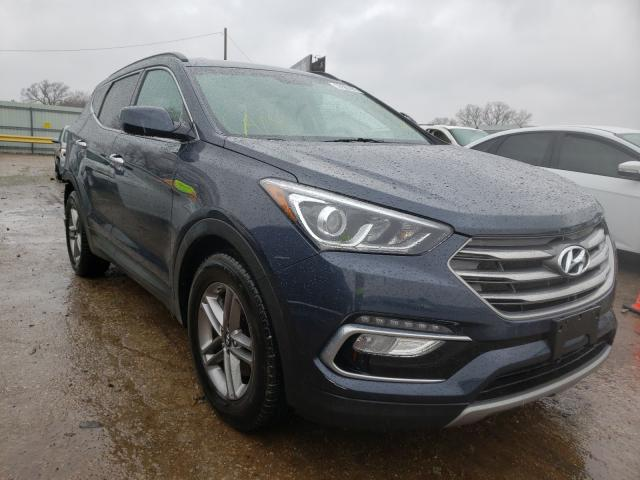 Salvage cars for sale from Copart Wichita, KS: 2017 Hyundai Santa FE S