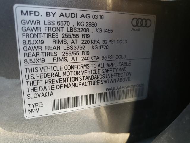 2017 AUDI Q7 PREMIUM WA1LAAF79HD010528