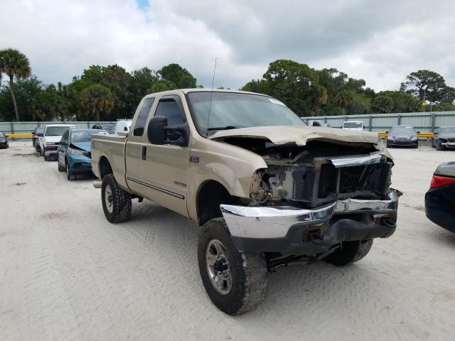 Salvage cars for sale from Copart Fort Pierce, FL: 2000 Ford F250 Super