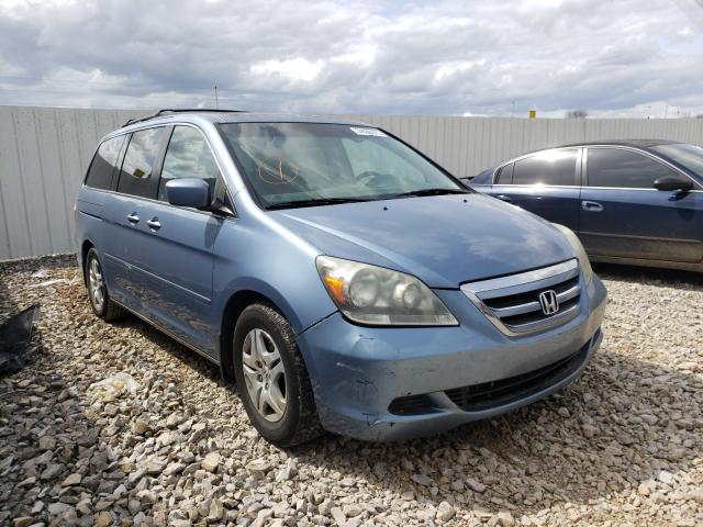 Salvage cars for sale from Copart Lawrenceburg, KY: 2007 Honda Odyssey EX