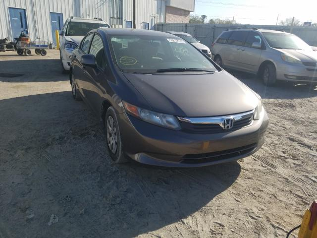 Salvage cars for sale from Copart Montgomery, AL: 2012 Honda Civic LX