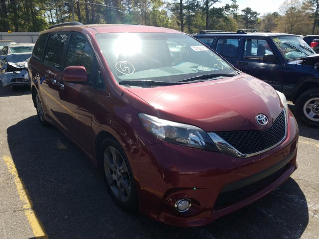 Salvage cars for sale from Copart Eight Mile, AL: 2014 Toyota Sienna Sport