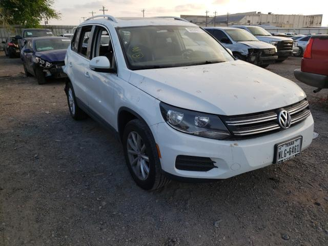 Salvage cars for sale from Copart Mercedes, TX: 2017 Volkswagen Tiguan WOL