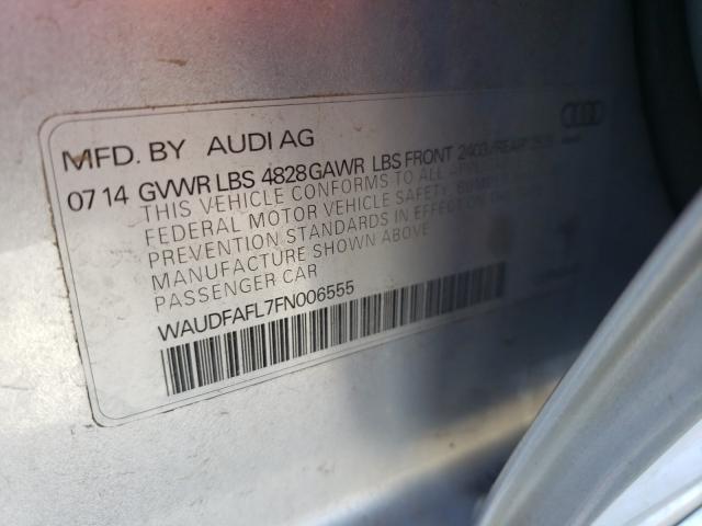 2015 AUDI A4 PREMIUM WAUDFAFL7FN006555