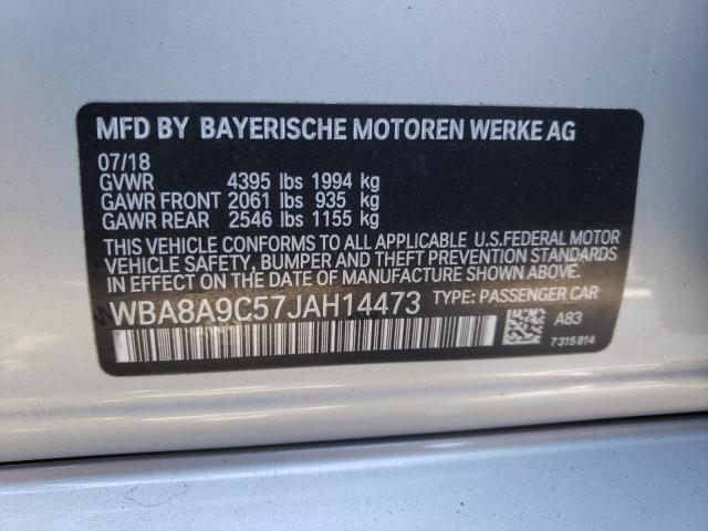 2018 BMW 320 I WBA8A9C57JAH14473