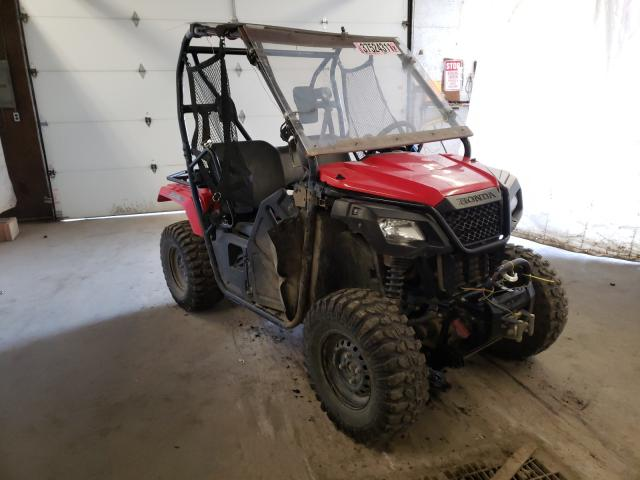 Salvage motorcycles for sale at Ebensburg, PA auction: 2018 Honda SXS500 M