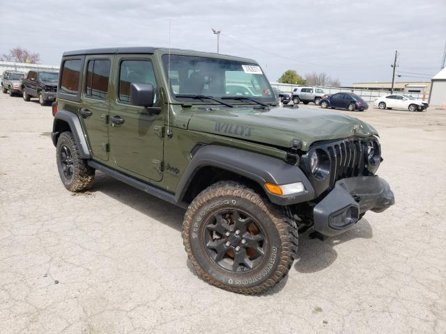 Salvage cars for sale from Copart Lexington, KY: 2021 Jeep Wrangler U