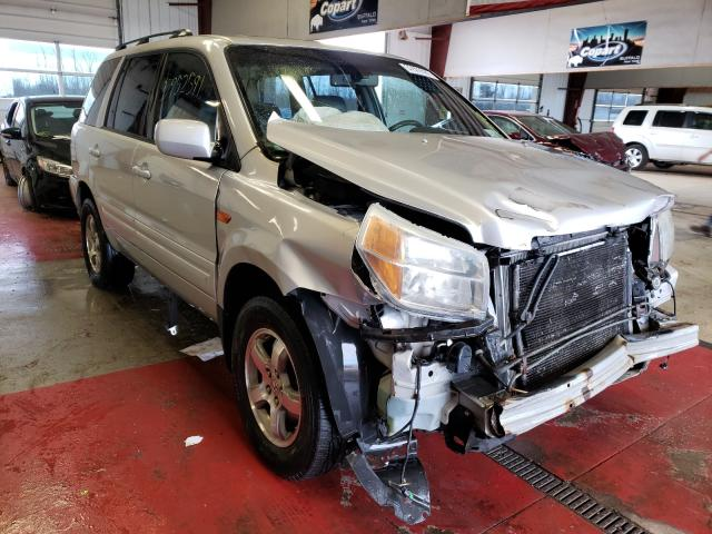 Salvage cars for sale from Copart Angola, NY: 2006 Honda Pilot EX