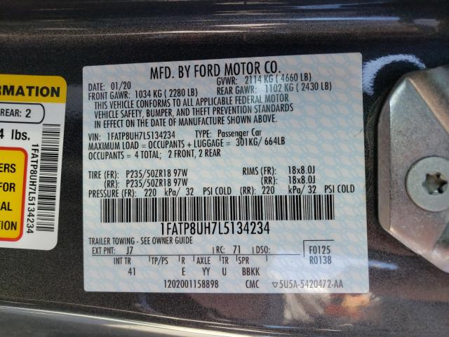 2020 FORD MUSTANG 1FATP8UH7L5134234