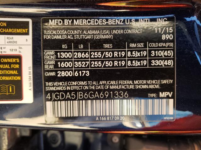 2016 MERCEDES-BENZ GLE 350 4JGDA5JB6GA691336