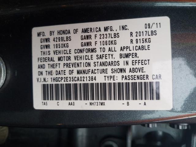 2012 HONDA ACCORD LX 1HGCP2E35CA021384