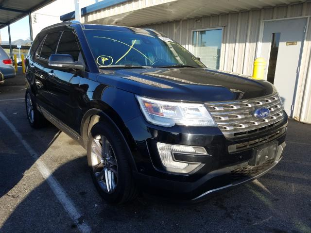 Salvage cars for sale from Copart San Martin, CA: 2017 Ford Explorer L