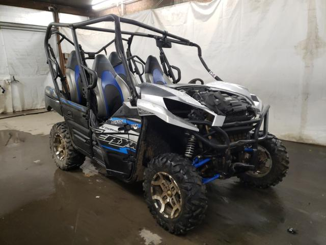 Salvage motorcycles for sale at Ebensburg, PA auction: 2020 Kawasaki KRT800 C