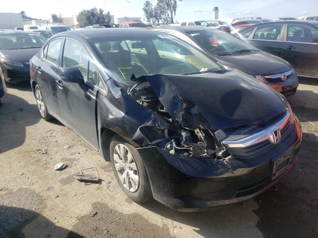 Salvage cars for sale from Copart Martinez, CA: 2012 Honda Civic LX