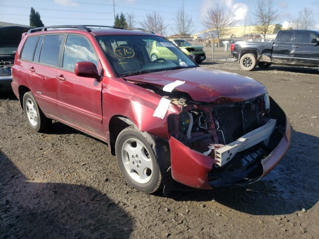 Salvage cars for sale from Copart Eugene, OR: 2007 Toyota Highlander