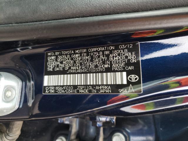 2012 TOYOTA SCION XD JTKKU4B4XC1023393