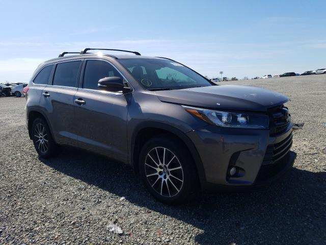 Toyota salvage cars for sale: 2017 Toyota Highlander