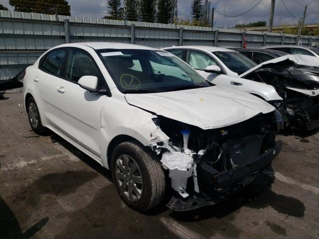 KIA salvage cars for sale: 2021 KIA Rio LX
