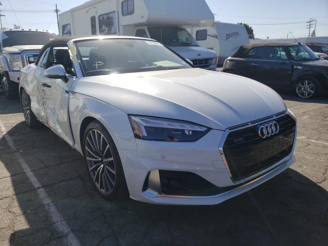 Salvage cars for sale from Copart Van Nuys, CA: 2020 Audi A5 Premium