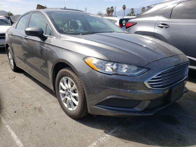 Salvage cars for sale from Copart Colton, CA: 2017 Ford Fusion S