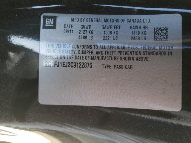 2012 CHEVROLET CAMARO SS 2G1FJ1EJ2C9122876
