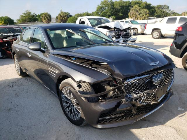 Genesis salvage cars for sale: 2021 Genesis G80 Base