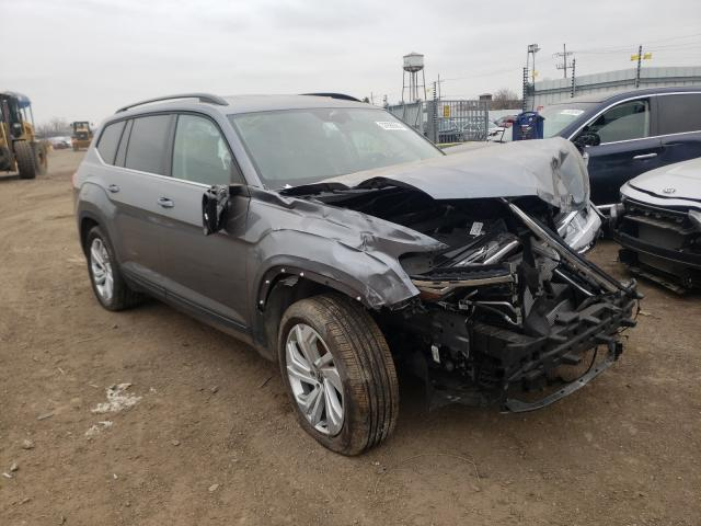 Volkswagen salvage cars for sale: 2021 Volkswagen Atlas SE