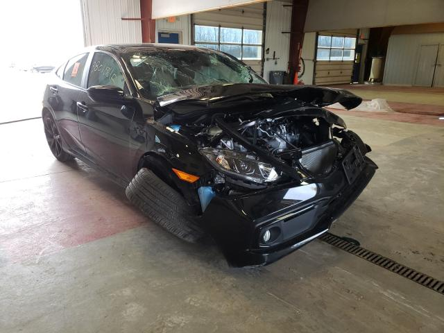Salvage cars for sale from Copart Angola, NY: 2020 Honda Civic Sport