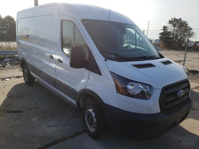 Salvage cars for sale from Copart Woodhaven, MI: 2020 Ford Transit T