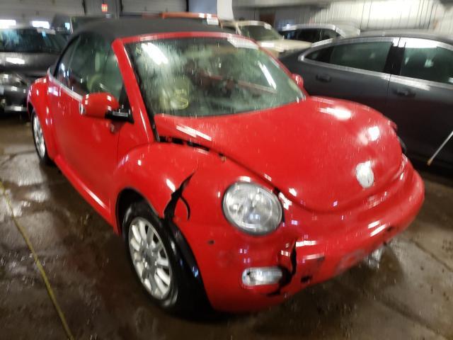 Volkswagen salvage cars for sale: 2005 Volkswagen New Beetle