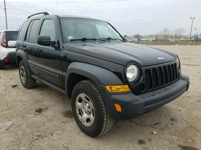 Salvage cars for sale from Copart Indianapolis, IN: 2006 Jeep Liberty SP