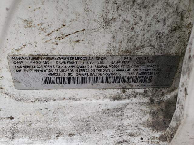 2011 VOLKSWAGEN JETTA TDI 3VWPL8AJ5BM628435