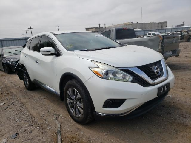 Salvage cars for sale from Copart Mercedes, TX: 2016 Nissan Murano S