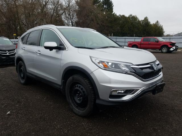 Salvage cars for sale from Copart London, ON: 2016 Honda CR-V Touring