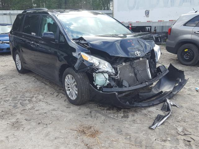 Salvage cars for sale from Copart Midway, FL: 2017 Toyota Sienna XLE