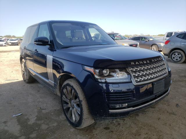Salvage cars for sale from Copart Temple, TX: 2017 Land Rover Range Rover